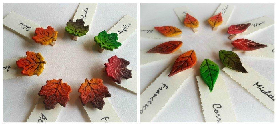 segnaposto autunno matrimonio ottobre