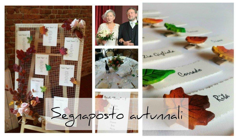 Matrimonio Tema Autunno : Segnaposto autunnali personalizzati per la tavola degli