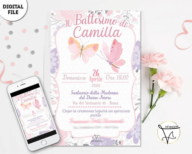 Inviti-battesimo-digitali-tema-farfalle