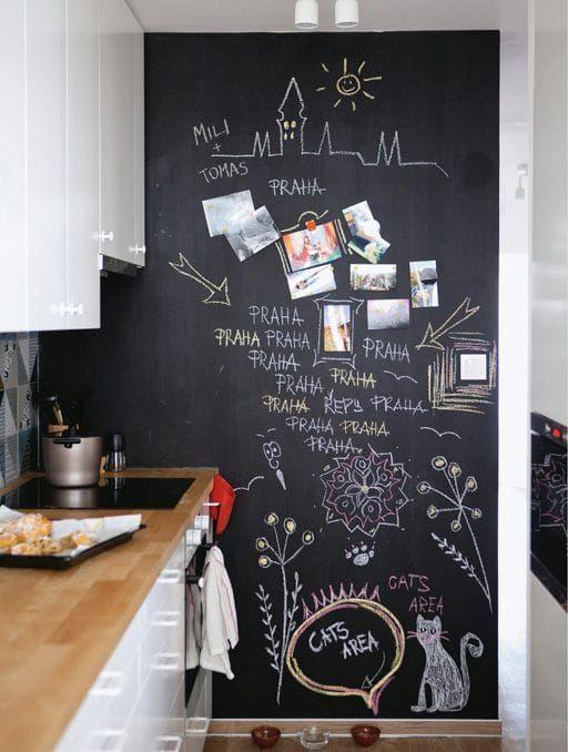 decorare-una-parete-effetto-lavagna