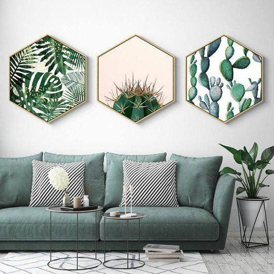 parete-con-quadri-botanici
