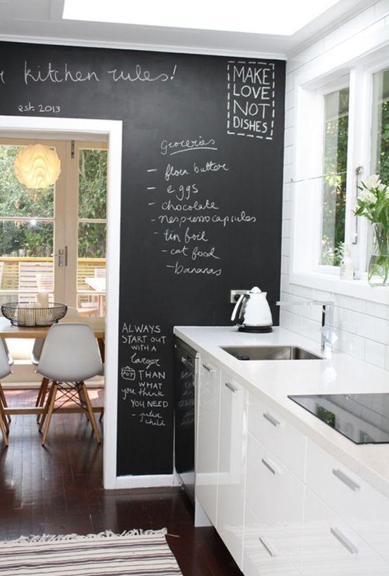parete-lavagna-cucina