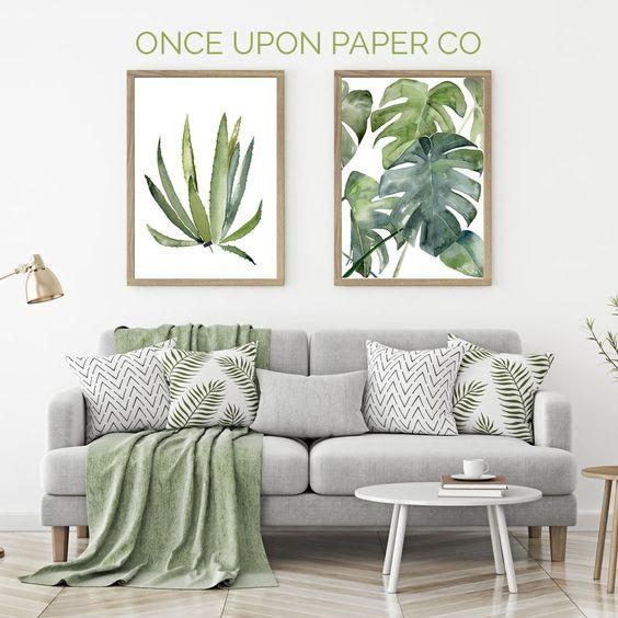 quadri-con-foglie-tropicali
