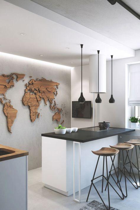 mappamondo-su-parete-cucina