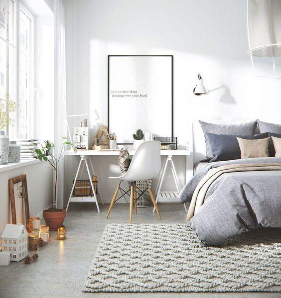 angolo studio in camera da letto