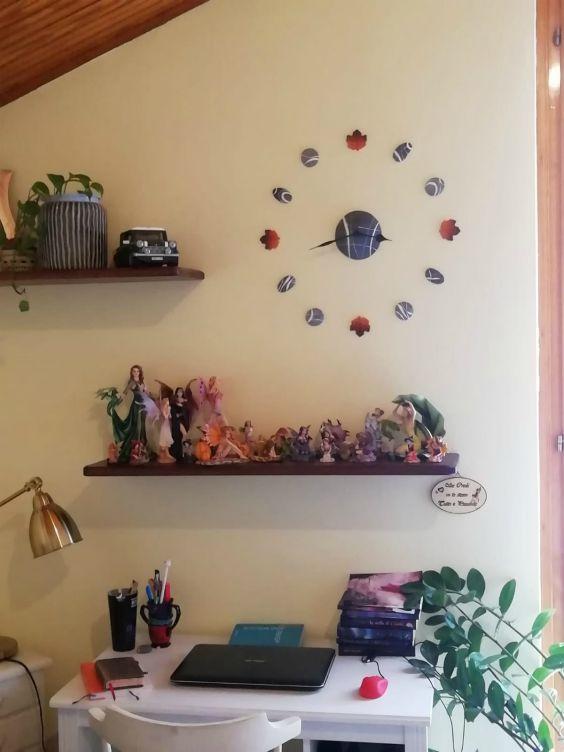 piccolo studio in soggiorno