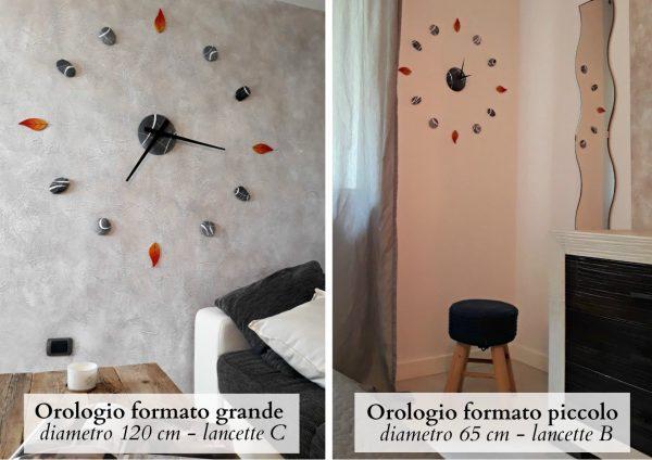 orologio da parete grande e piccolo con foglie