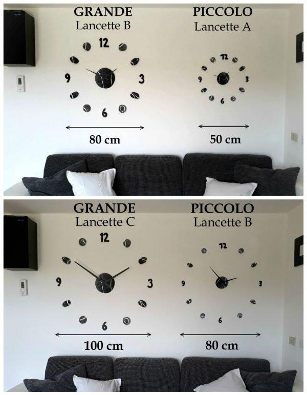 info grafica formati orologi da parete