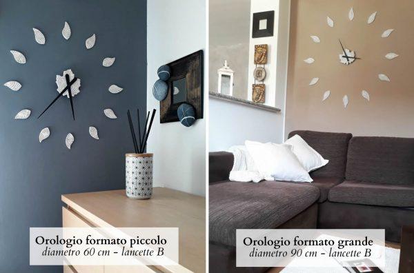 differenze dimensioni orologio da parete foglie